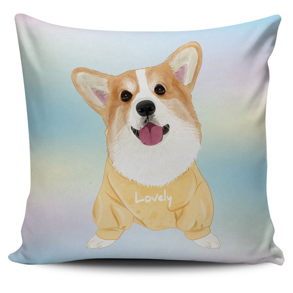 Lovely Sweet Corgi Pillow Cover