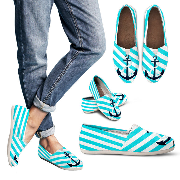 Blue Nautical Women's Casual Shoes