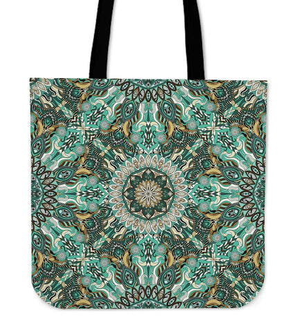 Ornamental Magical Green Dream Cloth Tote Bag