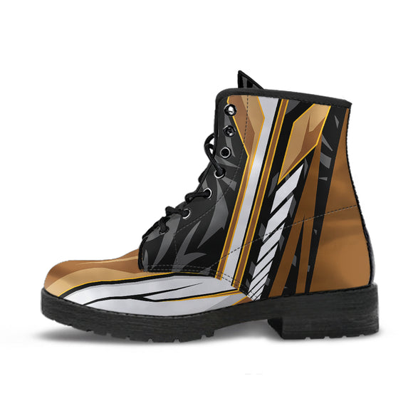 Racing Style Black & Brown 3 Unisex Leather Boots