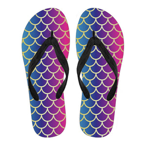 Rainbow Fish Scale Women's Flip Flops