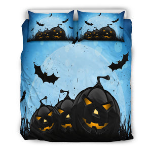 Blue Halloween Bedding Set