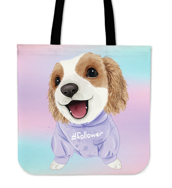 Cute Sweet Puppy Cloth Tote Bag