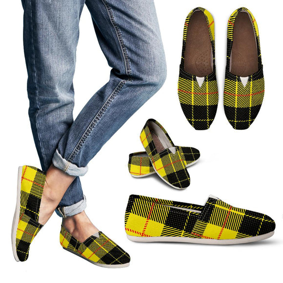 Yellow Tartan Passion Women's Casual Shoes