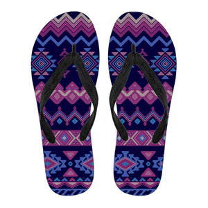 Purple Black Women's Flip Flops