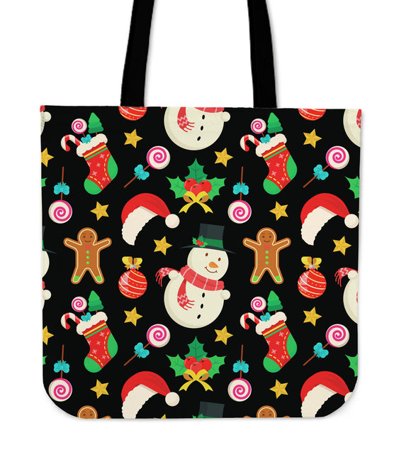 Christmas Lovely Good Vibes Only Cloth Tote Bag