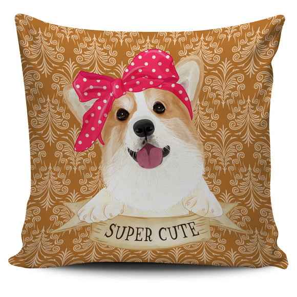 Cute Super Corgi Pillow Cover