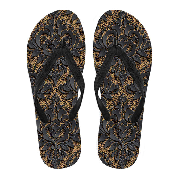 Royal Black Men's Flip Flops