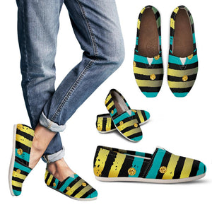 Luxury Neon Strips Women's Casual Shoes
