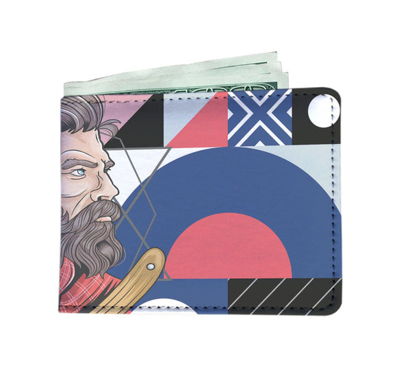 Man Wallet Abstract Barber