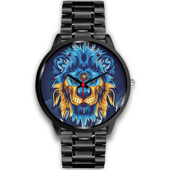 Blue Lion Abstract
