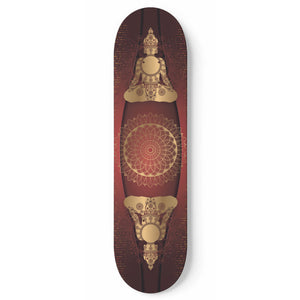 Love And Peace Skateboard Wall Art