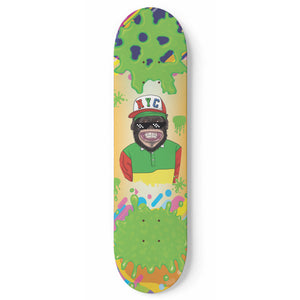 NYC Monkey Skateboard Wall Art