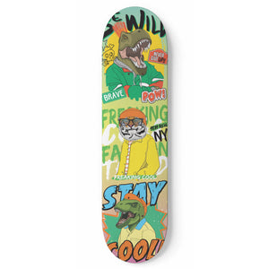 Stay Cool Skateboard Wall Art