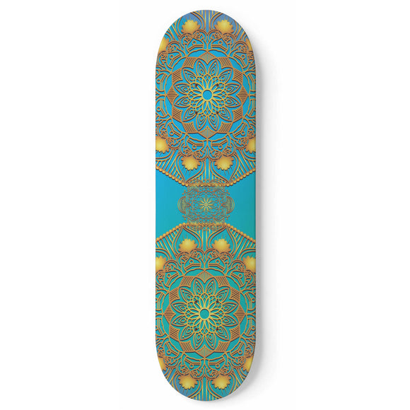 Addicted To Gold Skateboard Wall Art