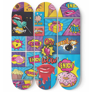 Pop Art Vol. 2 Skateboard Wall Art