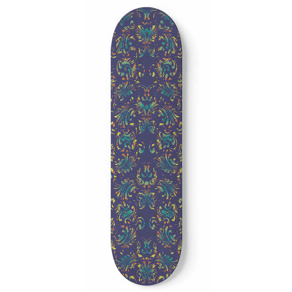 Blue Ornaments Skateboard Wall Art