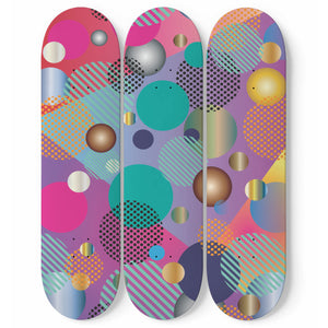 Pop Art Dots Skateboard Wall Art