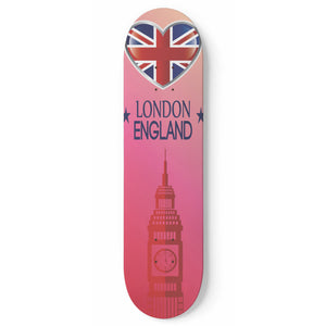 London Skateboard Wall Art