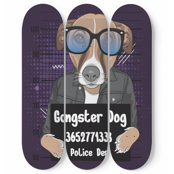 Arrested Dog Skateboard Wall Art