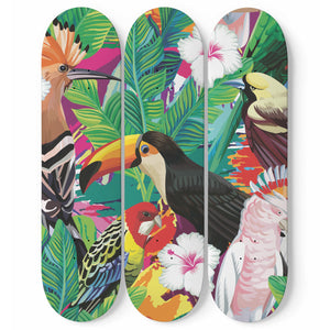 Tropical Eden Skateboard Wall Art