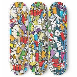 Graffiti Style Skateboard Wall Art