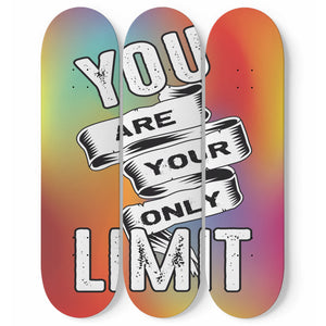 You Are Your Only Limit Skateboard Wall Art