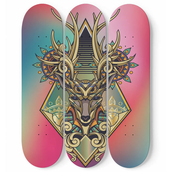 Hi Deer Skateboard Wall Art