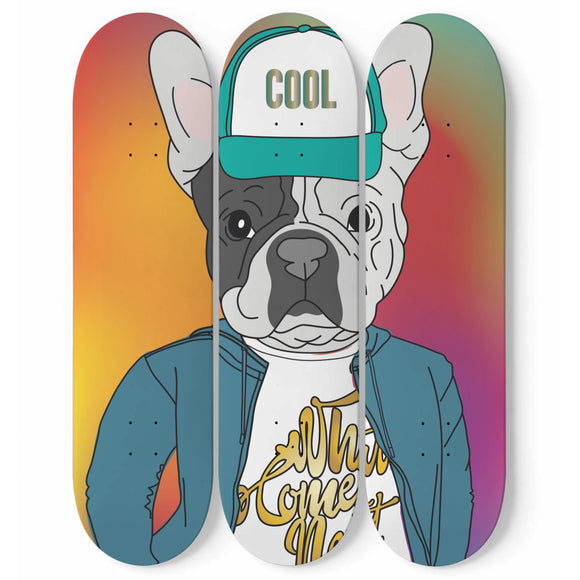 Cool Pug Skateboard Wall Art
