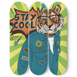 Stay Cool Tiger Skateboard Wall Art