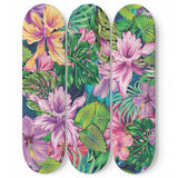 Tropical Orchid Skateboard Wall Art