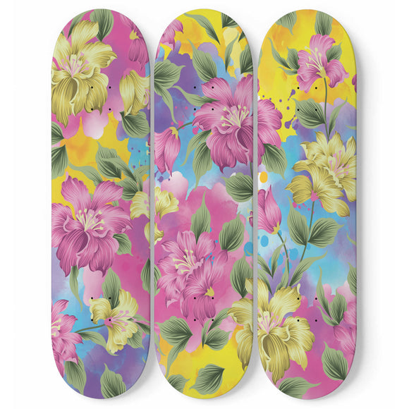 Lovely Pink Skateboard Wall Art