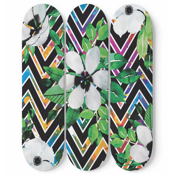 Summer Flower Skateboard Wall Art
