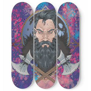 Warrior Skateboard Wall Art