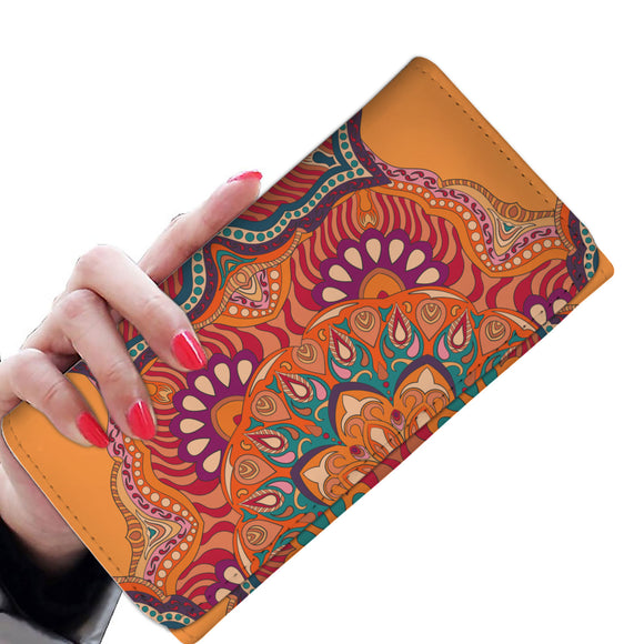 Ornamental Orange Heaven Woman Wallet Purse