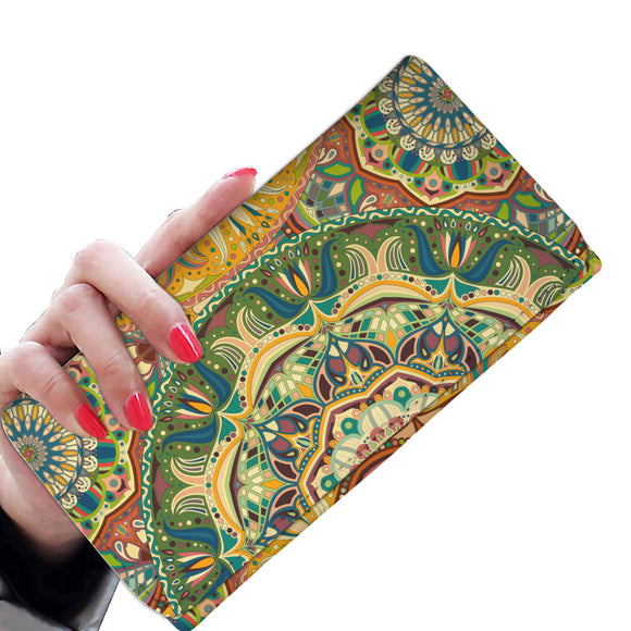Ornamental Orange Summer Woman Wallet Purse