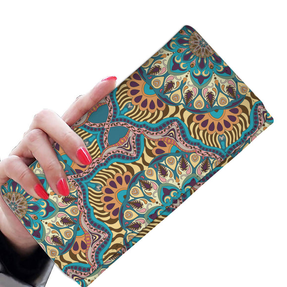 Luxury Summer Mandala Woman Wallet Purse