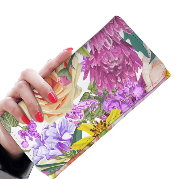 Summer Garden Woman Wallet Purse