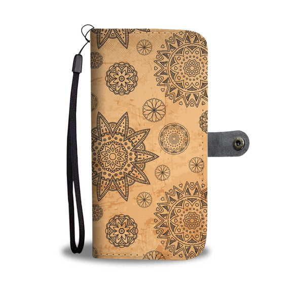 Mandala Stars Wallet Phone Case