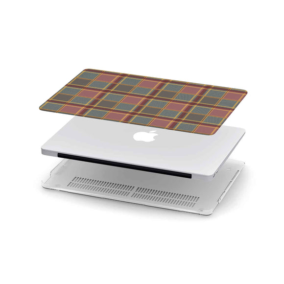 Luxury Brown Tartan MacBook Case
