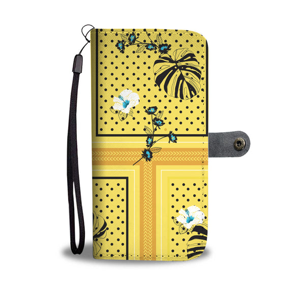 Yellow Dots Garden Wallet Phone Case