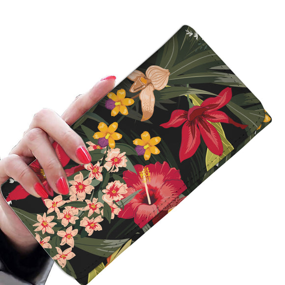 Red Garden Woman Wallet Purse