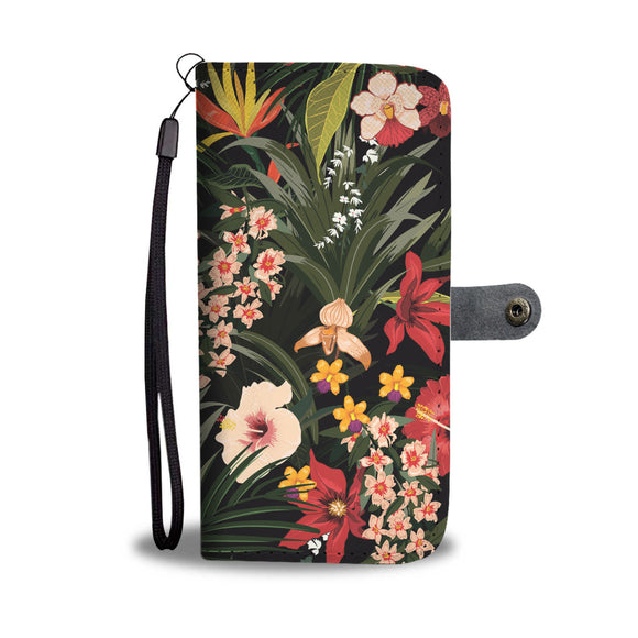 Red Garden Wallet Phone Case