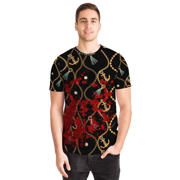 Luxury Gold Chains Design With Real Look Blood Sign T-shirt