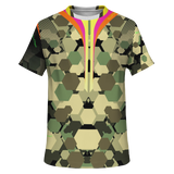 Special Camouflage Army Edition With Perfect Hexagon Design T-shirt
