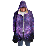SELFLOVE & SISTERHOOD WILL SAVE THE PLANET Violet Sky & Stars Design Luxurious Cloak