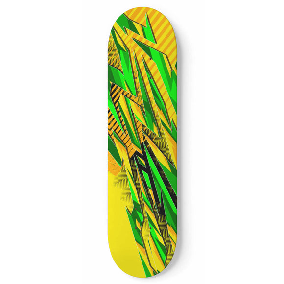 Racing Brazil Style Green & Yellow Vibe Skateboard Wall Art