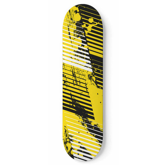 Racing Under Construction Style Black & Yellow Vibe Skateboard Wall Art