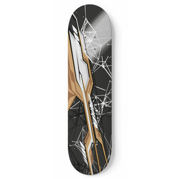 Racing Urban Style Black & Capuccino Vibe Skateboard Wall Art