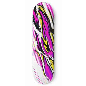 Racing Style Pink & White Vibe Skateboard Wall Art
